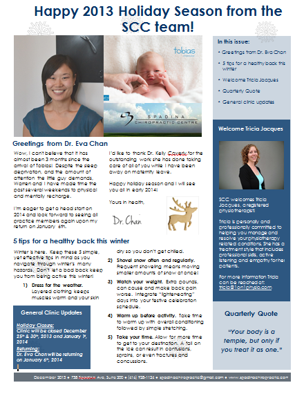 SCC Winter 2013 Newsletter